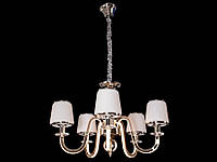 Люстра классическая с светодиодной подсветкой  рожков серебро/золото 8343-5, фото 1