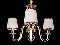 Люстра классическая с светодиодной подсветкой  рожков серебро/золото 8343-3, фото 1
