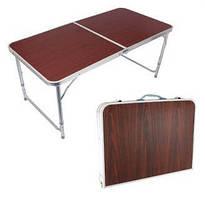 Стол складной для пикника без стульев коричневый