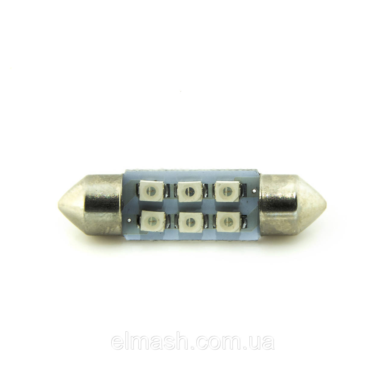 Лампа LED 12V AC (C5W) 6SMD 3528 36мм СИНИЙ