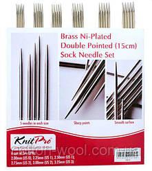 Набір шкарпеткових металевих спиць 15 см Nova Metal KnitPro