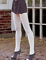 Белые женские матовые колготки Ju-Ju-Be, белые женские колготки капрон - микрофибра, гладкие. Размеры все.