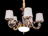 Люстра классическая с светодиодной подсветкой  рожков серебро/золото 8333-5, фото 1