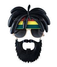 """Очки-маска """"Растаман"""" с усами и бородой"""