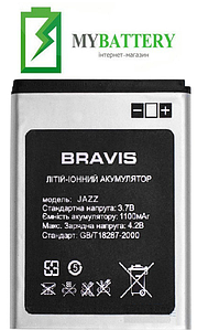 Оригинальный аккумулятор АКБ (Батарея) для Bravis Jazz 1100 mAh 3.7V