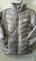 Куртка демисезонная для мальчика на 6-10 лет серого цвета оптом