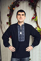 Модная мужская вышиванка с длинным рукавом