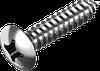 Саморез по металлу, полупотайная головка, крест. шлиц DIN 7983