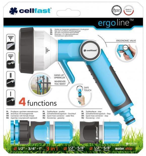 Пистолет для полива Cellfast Ergo многофункциональный, ()  (53-330)
