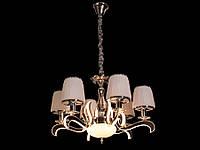 Люстра классическая с светодиодной подсветкой  рожков серебро/золото 8348-6, фото 1