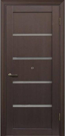 Двері МЮНХЕН L-1 Полотно, шпон, зрощений брус сосни, фото 2