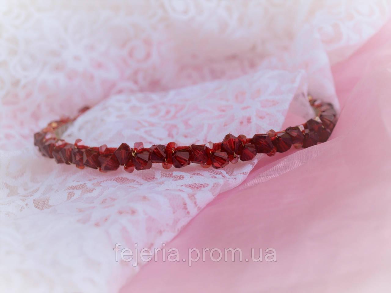 Свадебный выпускной красный ободок /обруч