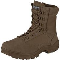 Ботинки MIL-TEC TACTICAL SIDE ZIP BOOTS BROWN, молния YKK (12822109) 45 (12822109-45)