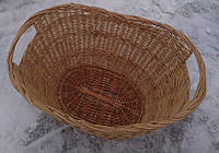 Большая плетеная корзина на дрова, фото 1