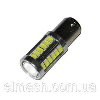 Лампа LED 12V 1157 33SMD 5630 драйвер сверхяркая 1000Lm БЕЛЫЙ