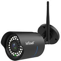 Наружная Wi-Fi IP камера ieGeek Security CT0323BKEU водостойкая инфракрасная 1080P черная