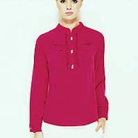 Рожева жіноча блузка MA&GI з жабо, фото 1