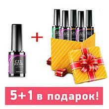 Набор гель-лаков Naomi 5+1 в подарок