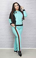 Спортивный костюм с цветными вставками батал, фото 1