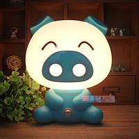 Детский светильник ночник Свинка Blue