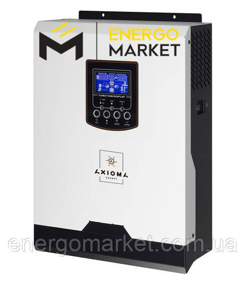 Инвертор гибридный AXIOMA energy ISPWM 3000 (2,4 кВт, ШИМ-контроллер 50 А, ИБП)