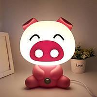 Светильник ночник розовая Свинка