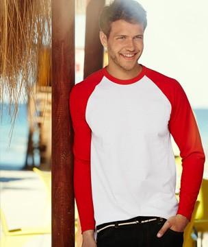 Мужская футболка комбинирование длинные рукава