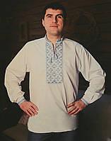 Мужская вышиванка с орнаментом и длинным рукавом