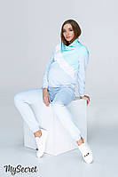 Спортивный костюм для беременных и кормящих SKYE, голубой с аквамариновым и  белым e75e2e3c0f5
