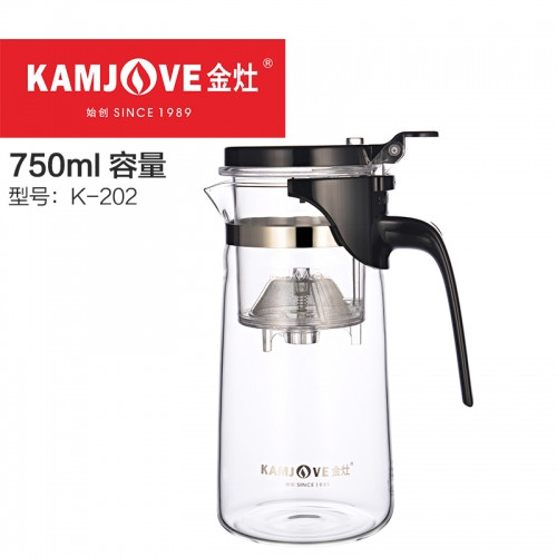 Чайник заварочный с кнопкой Kamjove K-202, 750 мл