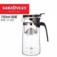 Чайник заварочный с кнопкой Kamjove K-202, 750 мл, фото 1