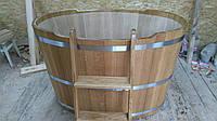 Бочка купель дубовая для бани 120х80 см