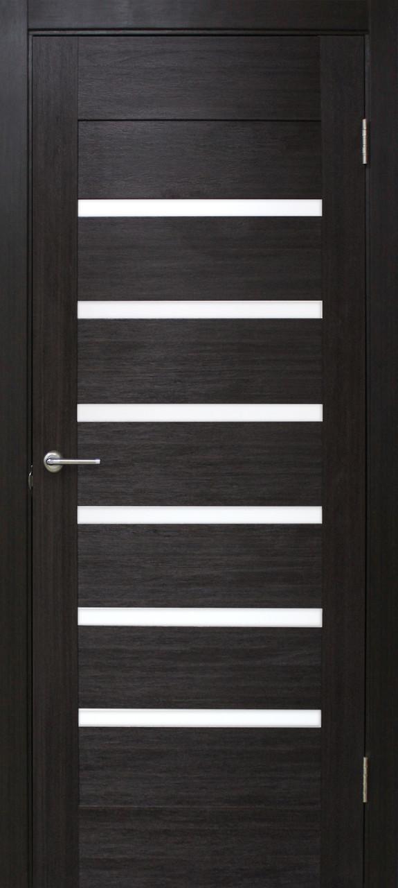 Двери Омис Лагуна. Полотно+коробка+2 к-та наличников+добор 100 мм, ПВХ, стекло сатин