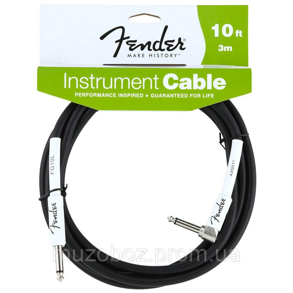 "Fender Performance Instrument Cable 10"" Angled BK кабель для электрогитары J6,3 - GJ6,3 (3m)"