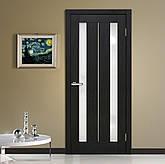 Двері Оміс Стелла. Полотно+коробка+1 до-кт наличників, ПВХ, скло сатин з молдингом, фото 2