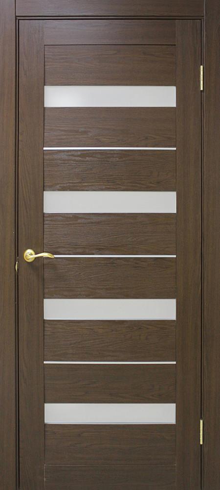 Двері Оміс Мілано . Полотно+коробка+1 до-кт наличників, ПВХ, скло сатин з молдингом