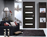 Двері Оміс Мілано . Полотно+коробка+1 до-кт наличників, ПВХ, скло сатин з молдингом, фото 3