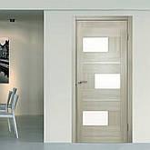 Двери Омис Куб. Полотно+коробка+1 к-кт наличников, ПВХ, стекло сатин с молдингом, фото 2