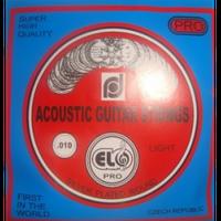 Elo Pro комплект струн для акустической гитары, серебрянная оплётка10-46