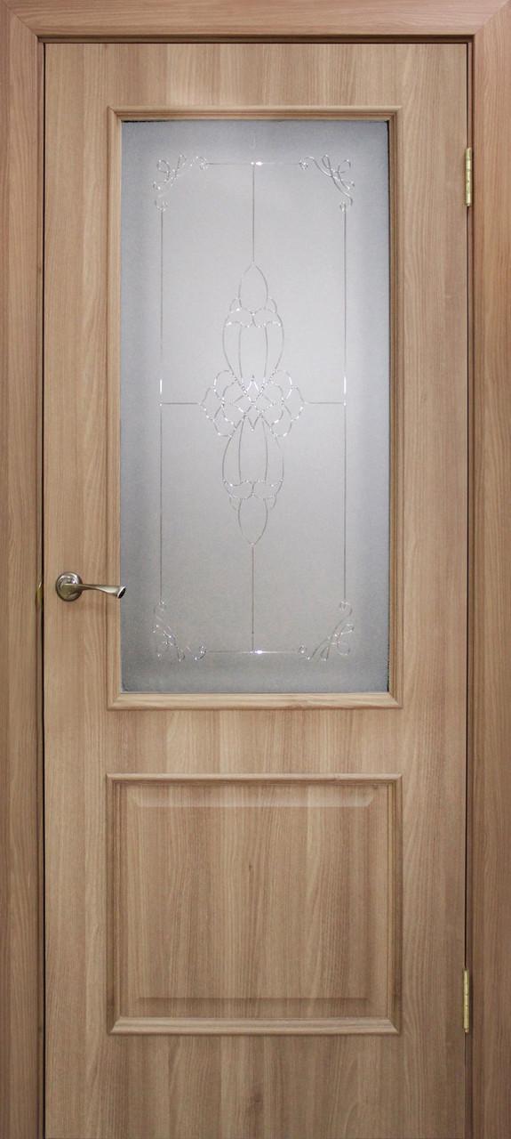 Двері Оміс Сан Марко 1.1 ПГ, СС+КР Полотно, ПВХ, скло бронза