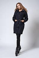 Женское демисезонное пальто. Код модели К-102-37-20. Цвет черный.