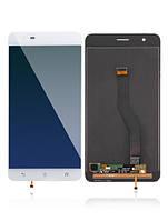 Дисплей для Asus ZenFone 3 Zoom (ZE553KL) + touchscreen, белый, Glacier Silver, оригинал PRC