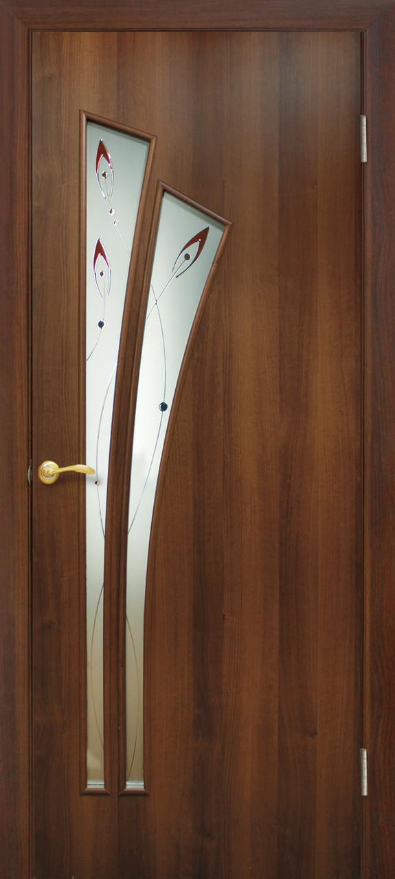 Двери Омис Пальма СС+КР. Полотно+коробка+1 к-кт наличников, ПВХ