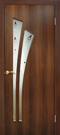 Двери Омис Пальма СС+КР. Полотно+коробка+1 к-кт наличников, ПВХ, фото 2