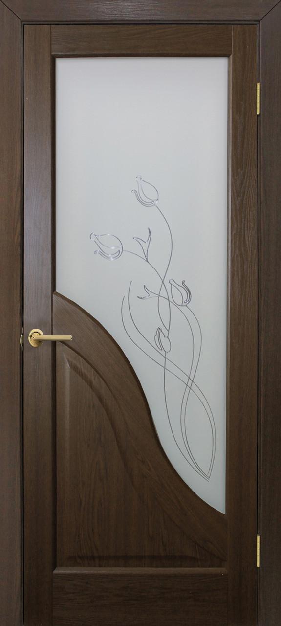 Двері Оміс Габріелла ПГ, СС+КР. Полотно+коробка+2 до-та лиштв+добір 100 мм, ПВХ