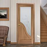 Двері Оміс Габріелла ПГ, СС+КР. Полотно+коробка+2 до-та лиштв+добір 100 мм, ПВХ, фото 3