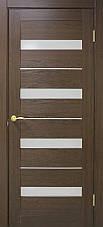 Двері Оміс Мілано. Полотно+коробка+2 до-та лиштв+добір 100 мм, ПВХ, скло сатин з молдингом, фото 3