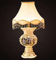 Роскошная керамическая настольная лампа Fan Saqi, ручная роспись золотом.