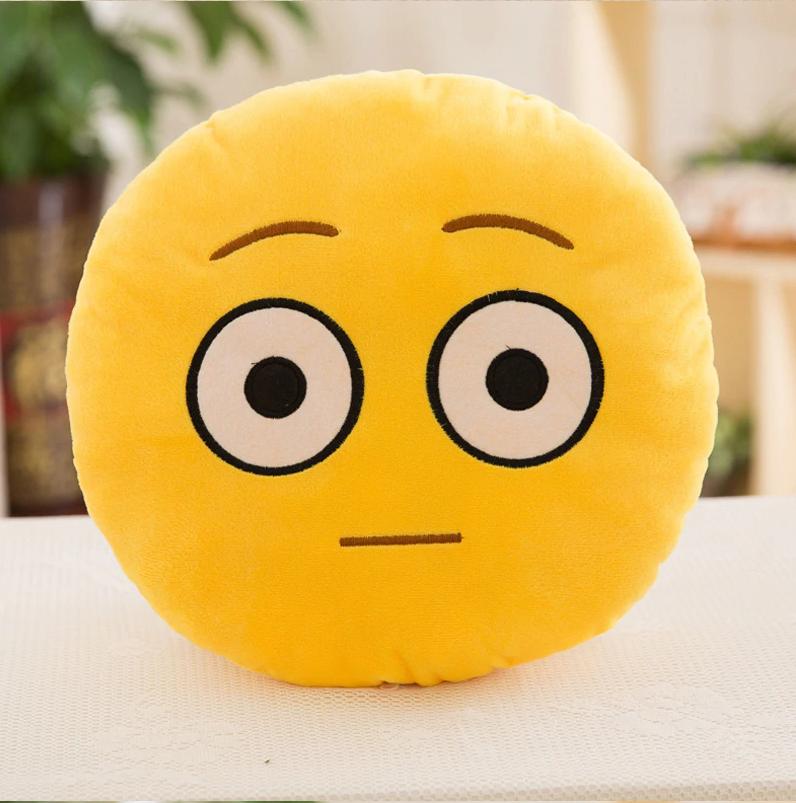 Декоративные подушки Смайл Улыбка Emoji 33 см. Подушка смайлик удивленный