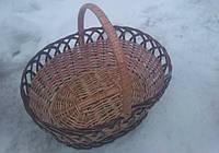 Большая пасхальная корзина плетеная, фото 1